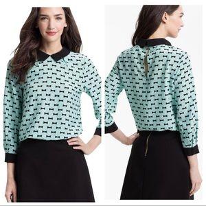 Kate Spade Isadora Bow Blouse Silk Shirt Size 10